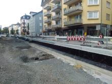 Der Bahnsteig an der neuen Haltestelle ...